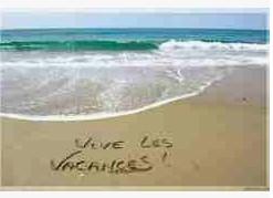 Bonnes vacances à toutes et à tous